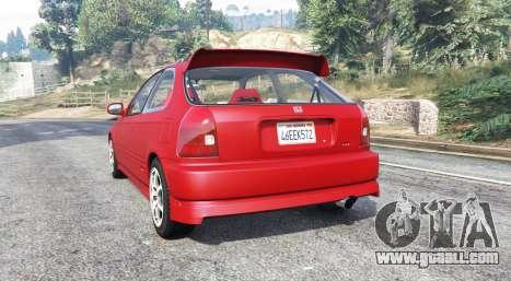 GTA 5 Honda Civic Type-R (EK9) 2000 v1.1 [replace] rear left side view