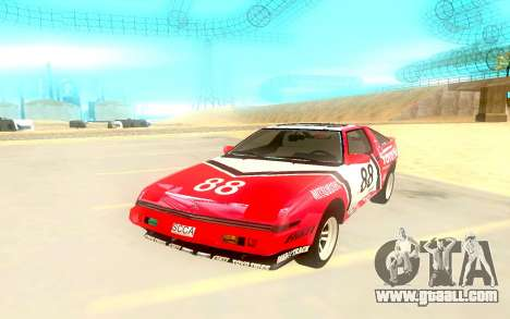 Mitsubishi Starion ESiR US-Spec 1986 for GTA San Andreas back left view