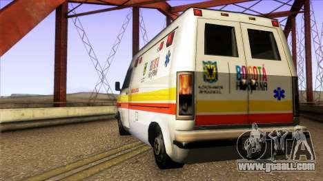 Ambulancia Rumpo Colombiana for GTA San Andreas