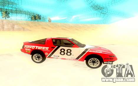 Mitsubishi Starion ESiR US-Spec 1986 for GTA San Andreas right view