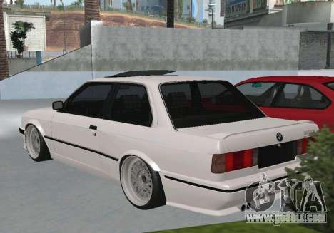 BMW 320i E30 Widebody for GTA San Andreas left view