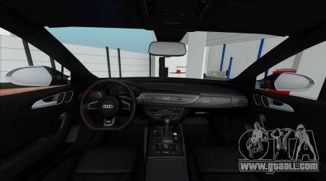 Audi RS6 Avant C7 Bulkin for GTA San Andreas inner view