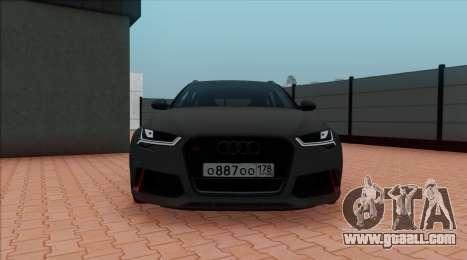 Audi RS6 Avant C7 Bulkin for GTA San Andreas back view