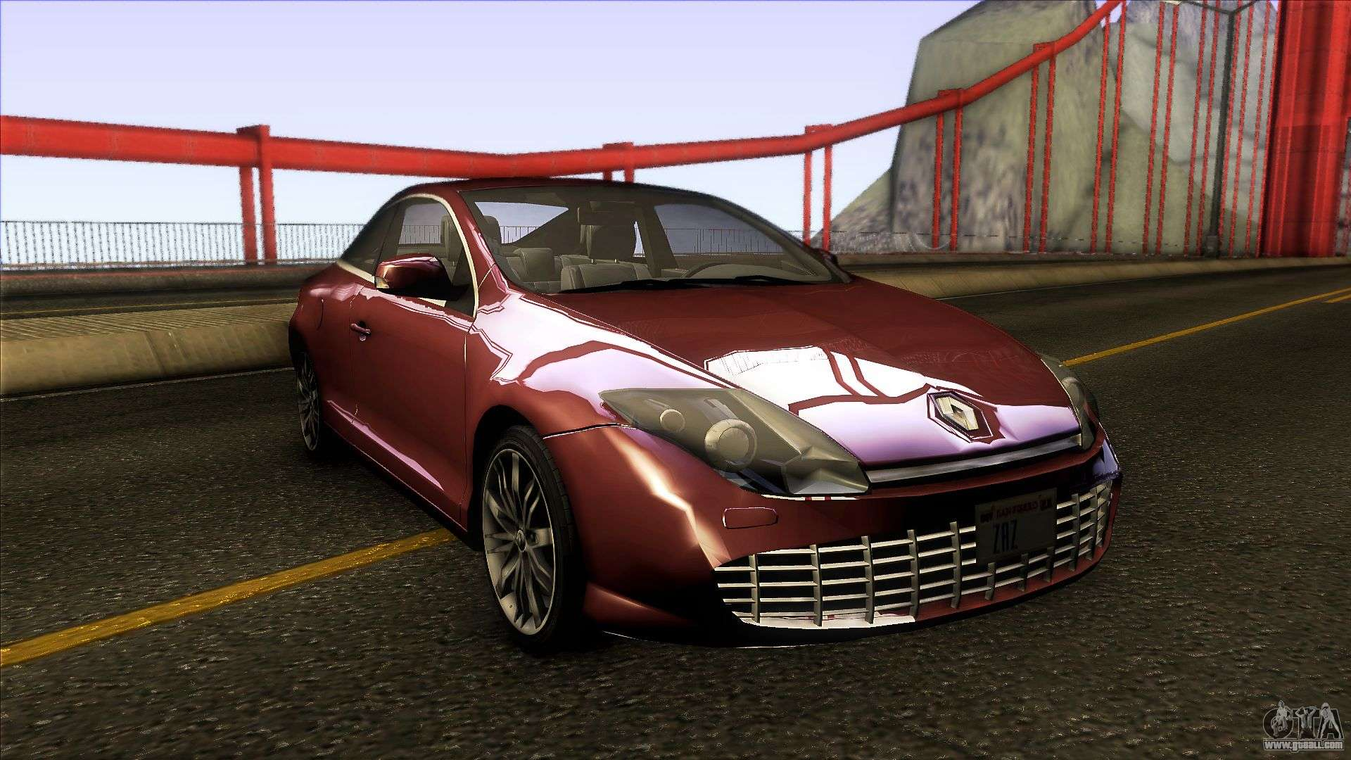renault laguna iii coupe x91 2012 for gta san andreas. Black Bedroom Furniture Sets. Home Design Ideas