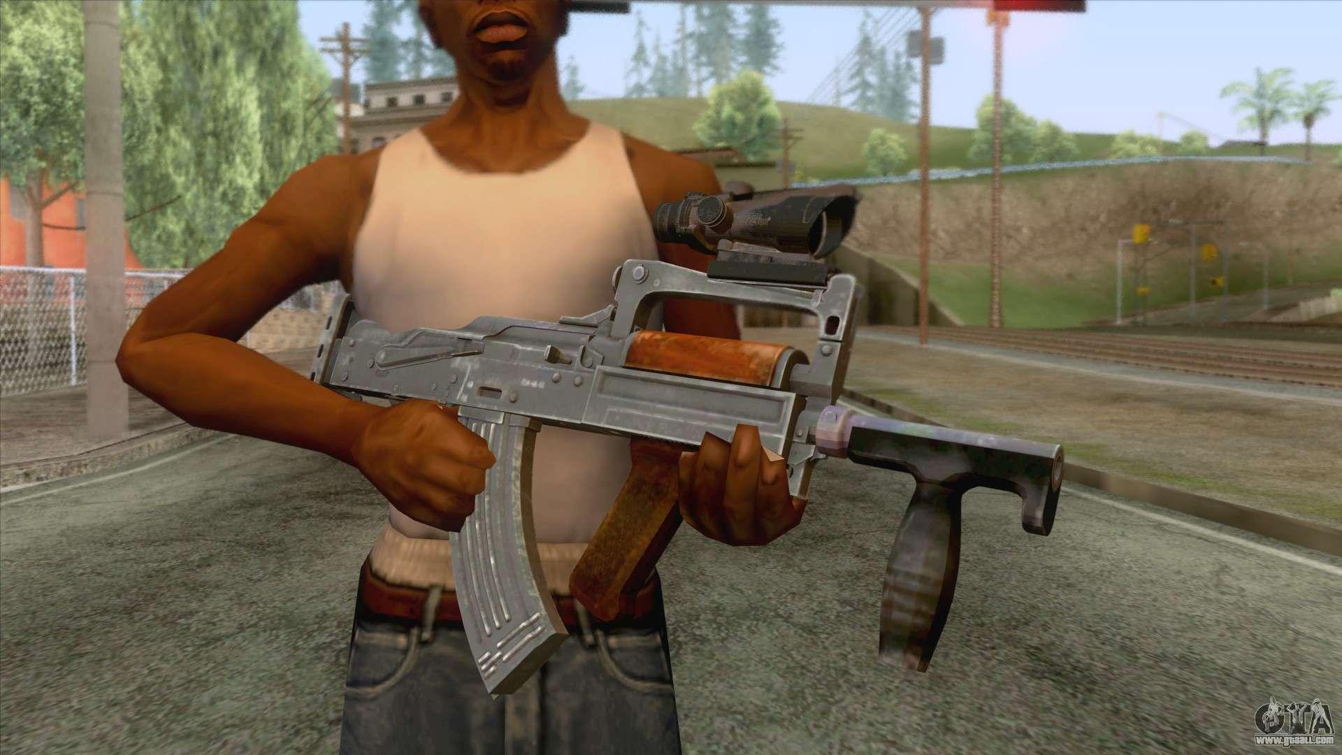 Downaload Woman With Guns Playerunknown S Battlegrounds: OTs-14 Groza V2 For GTA San