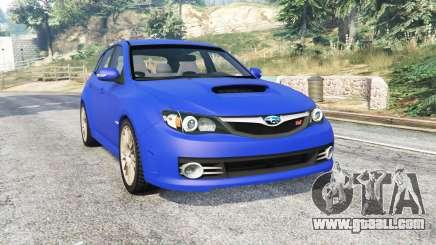 Subaru Impreza WRX STI (GRB) v1.2 [replace] for GTA 5