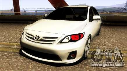 Toyota Corolla 2011 Comfort Extra for GTA San Andreas
