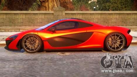 2013 McLaren P1 for GTA 4