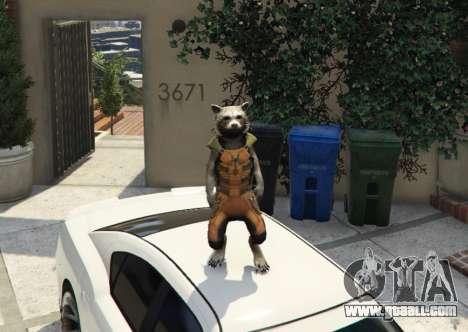 GTA 5 Rocket Raccoon from Guardians of the Galaxy
