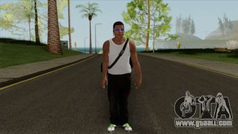 Franklin Clinton Robber Style GTA V for GTA San Andreas