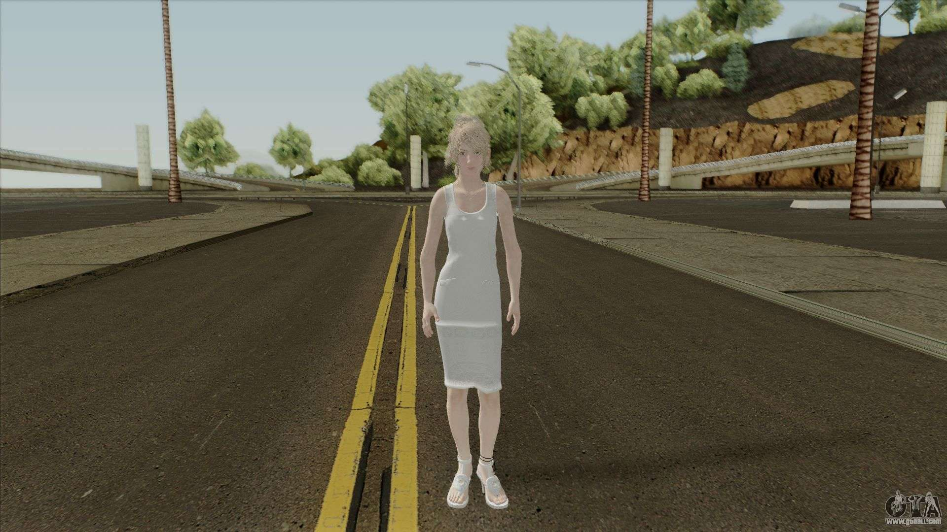 Lunafreya from Final Fantasy XV for GTA San Andreas