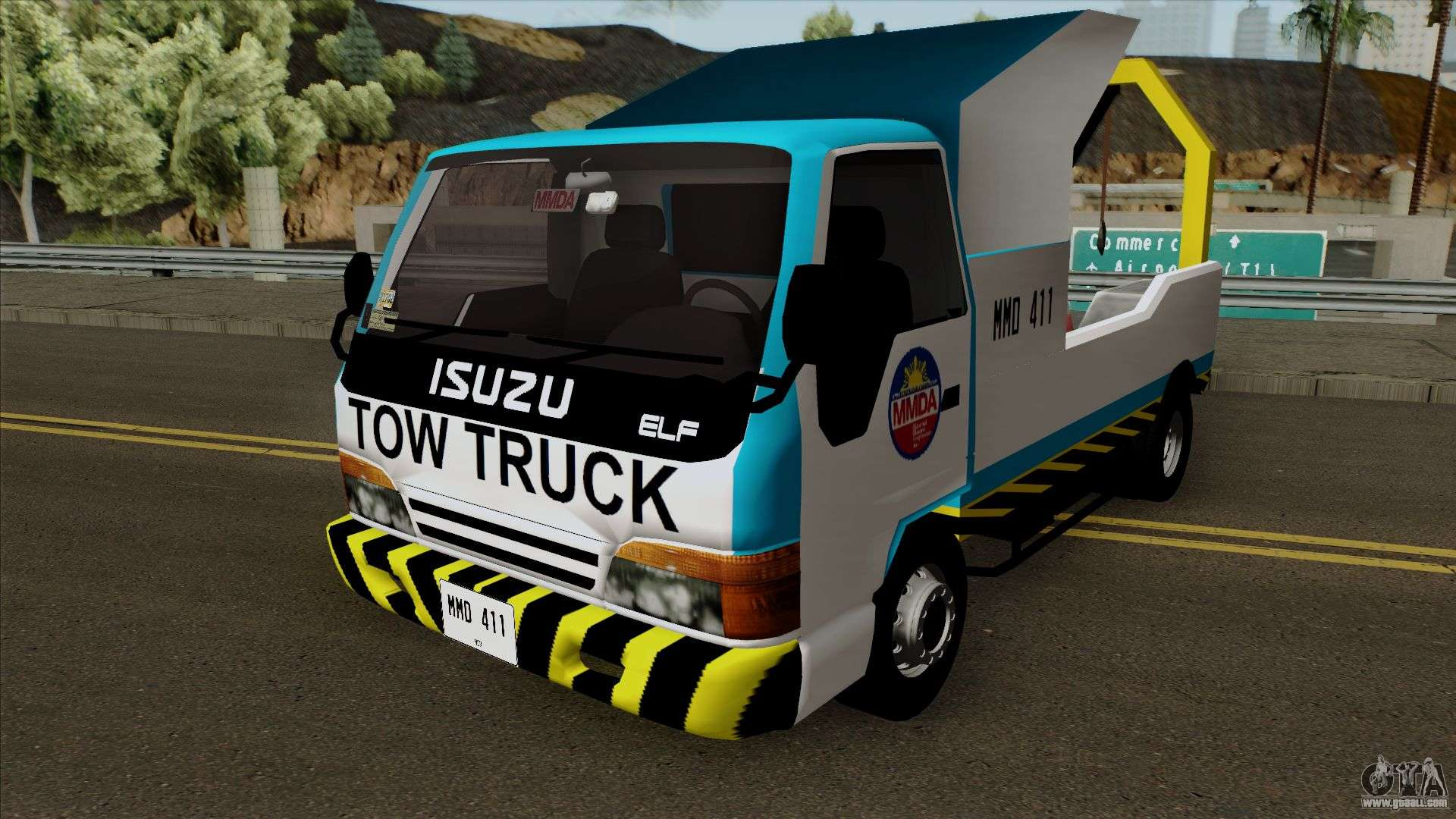Isuzu ELF Philippine Government Tow Truck for GTA San Andreas