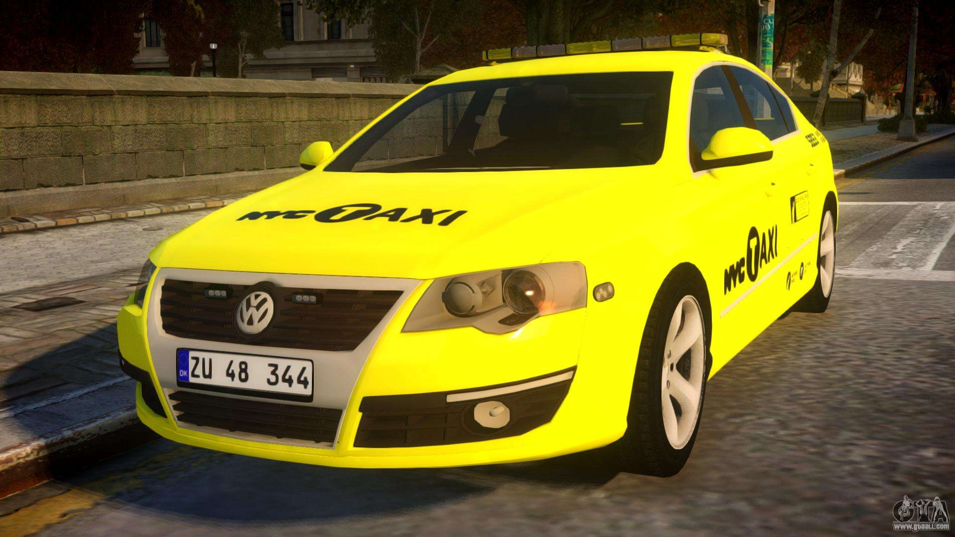 volkswagen passat b6 sedan nyc taxi for gta 4. Black Bedroom Furniture Sets. Home Design Ideas
