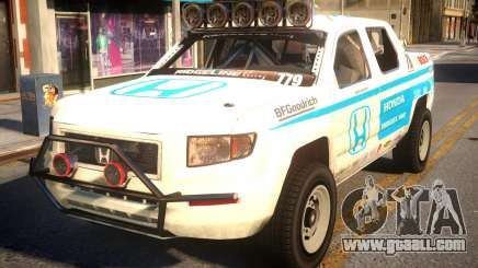 Honda Racing White for GTA 4