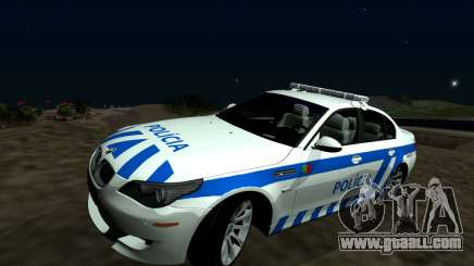 BMW M5 E60 PSP - Portuguese Police Car for GTA San Andreas