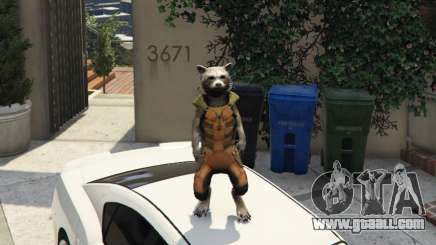 Rocket Raccoon from Guardians of the Galaxy for GTA 5