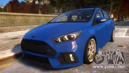 2017 Focus RS STOCK EDIT for GTA 4