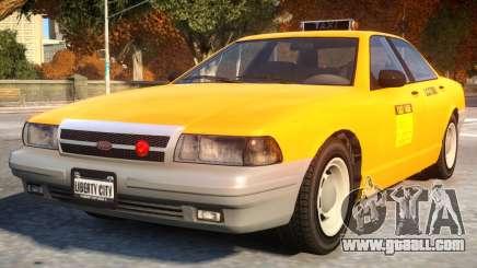 Vapid Stanier 2th gen Taxi for GTA 4