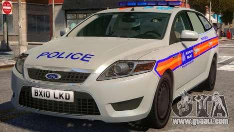Ford Mondeo Dog Section Metropolitan Police for GTA 4