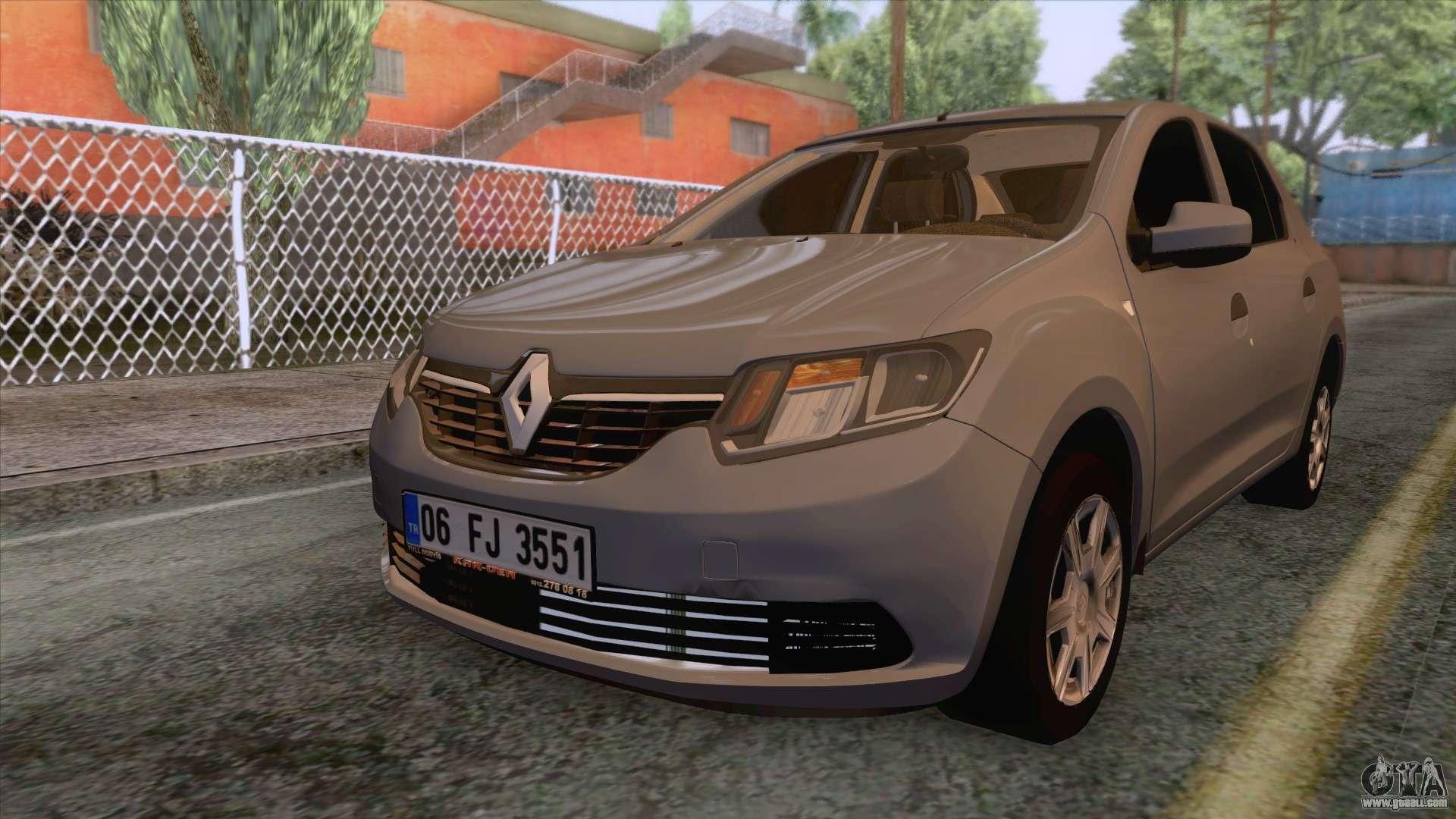 Renault Symbol 2013 Joy For Gta San Andreas