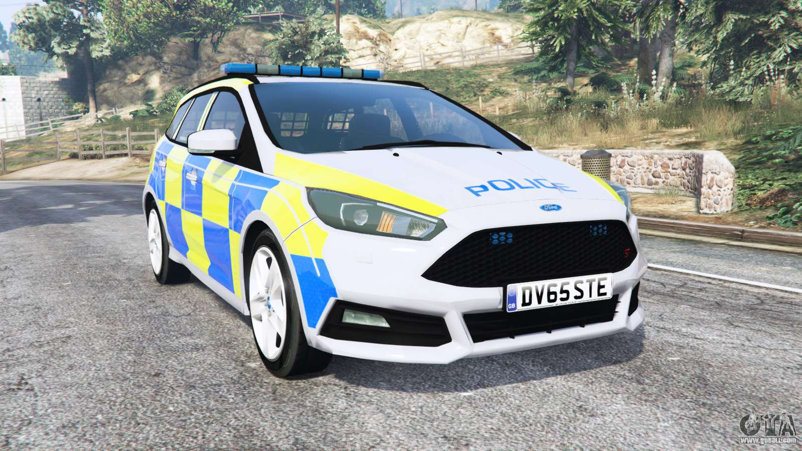 ford focus st turnier dyb police replace for gta 5. Black Bedroom Furniture Sets. Home Design Ideas