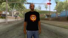 Gucci Angry Cat T-Shirt Black for GTA San Andreas