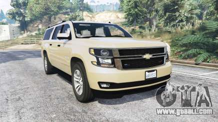 Chevrolet Suburban Unmarked Police [replace] for GTA 5