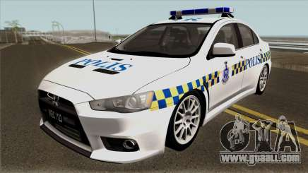 Mitsubishi Lancer Evolution X Malaysia Police for GTA San Andreas