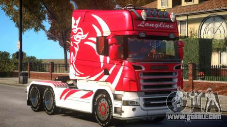 Scania R580 Longline Custom PJ4 for GTA 4