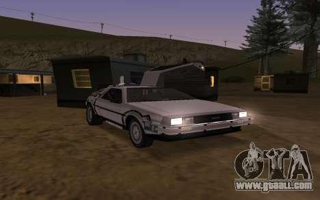 Delorean DMC-12 Back To The Future 2 for GTA San Andreas