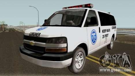 Chevrolet Express Coroner 2010 for GTA San Andreas