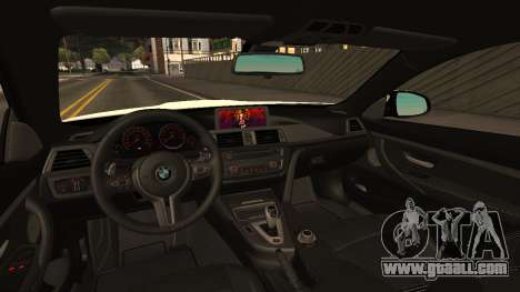 BMW M4 for GTA San Andreas back left view