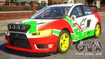 Mitsubishi Lancer EVOX PJ1 for GTA 4
