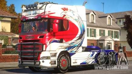 Scania R580 Longline Custom PJ6 for GTA 4
