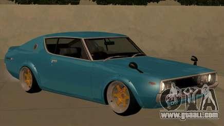 Nissan Skyline GTR 1973 KPGC110 JerryCustoms for GTA San Andreas