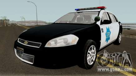 Chevrolet Impala 2007 SFPD for GTA San Andreas