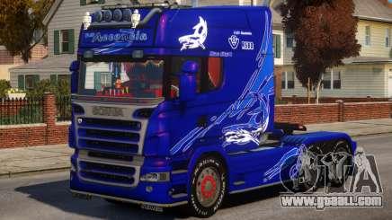 Scania R580 Longline Custom PJ8 for GTA 4