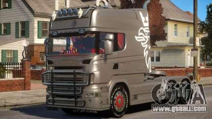 Scania R580 Longline Custom PJ1 for GTA 4