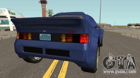 Vapid GB200 GTA V for GTA San Andreas right view
