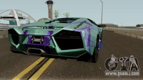 Lamborghini Reventon Itasha Hinatsuru for GTA San Andreas right view