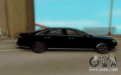 Audi A8 2018 for GTA San Andreas back view