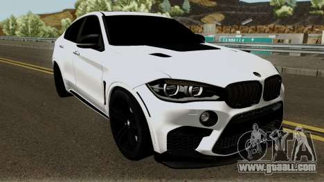 BMW X6M for GTA San Andreas inner view