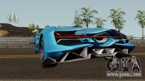 Pegassi Millennium GTA V IVF for GTA San Andreas back left view