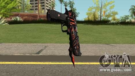Desert Eagle Born Beast for GTA San Andreas second screenshot