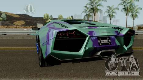 Lamborghini Reventon Itasha Hinatsuru for GTA San Andreas back left view