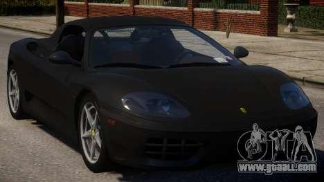 2000 Ferrari 360 Spider V1.1 for GTA 4