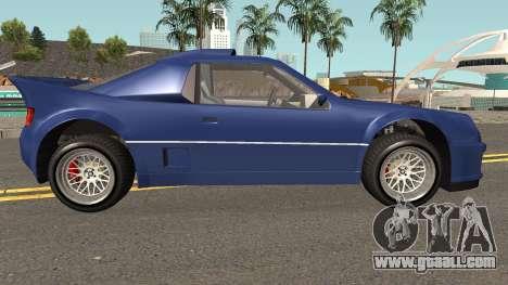 Vapid GB200 GTA V for GTA San Andreas back view