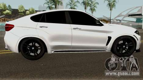 BMW X6M for GTA San Andreas back view