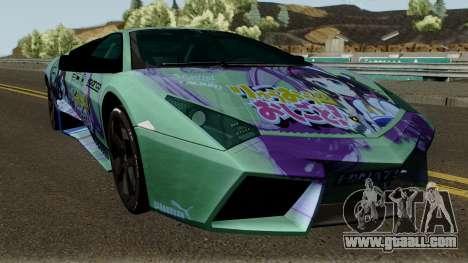 Lamborghini Reventon Itasha Hinatsuru for GTA San Andreas