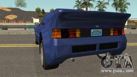 Vapid GB200 GTA V for GTA San Andreas back left view